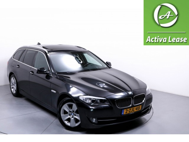 BMW 5 Serie 520D 184 PK HIGH EXECUTIVE  Automaat Navi Leder Panoramdak Soft Close Keyless Xenon